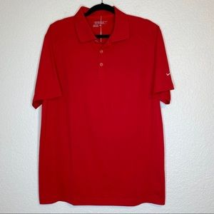 NWT Nike Dry Fit Polo Red Shirt Large